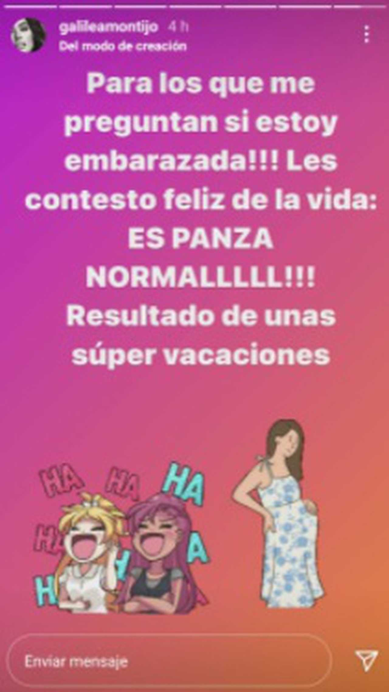 Galilea Montijo responde si está embarazada
