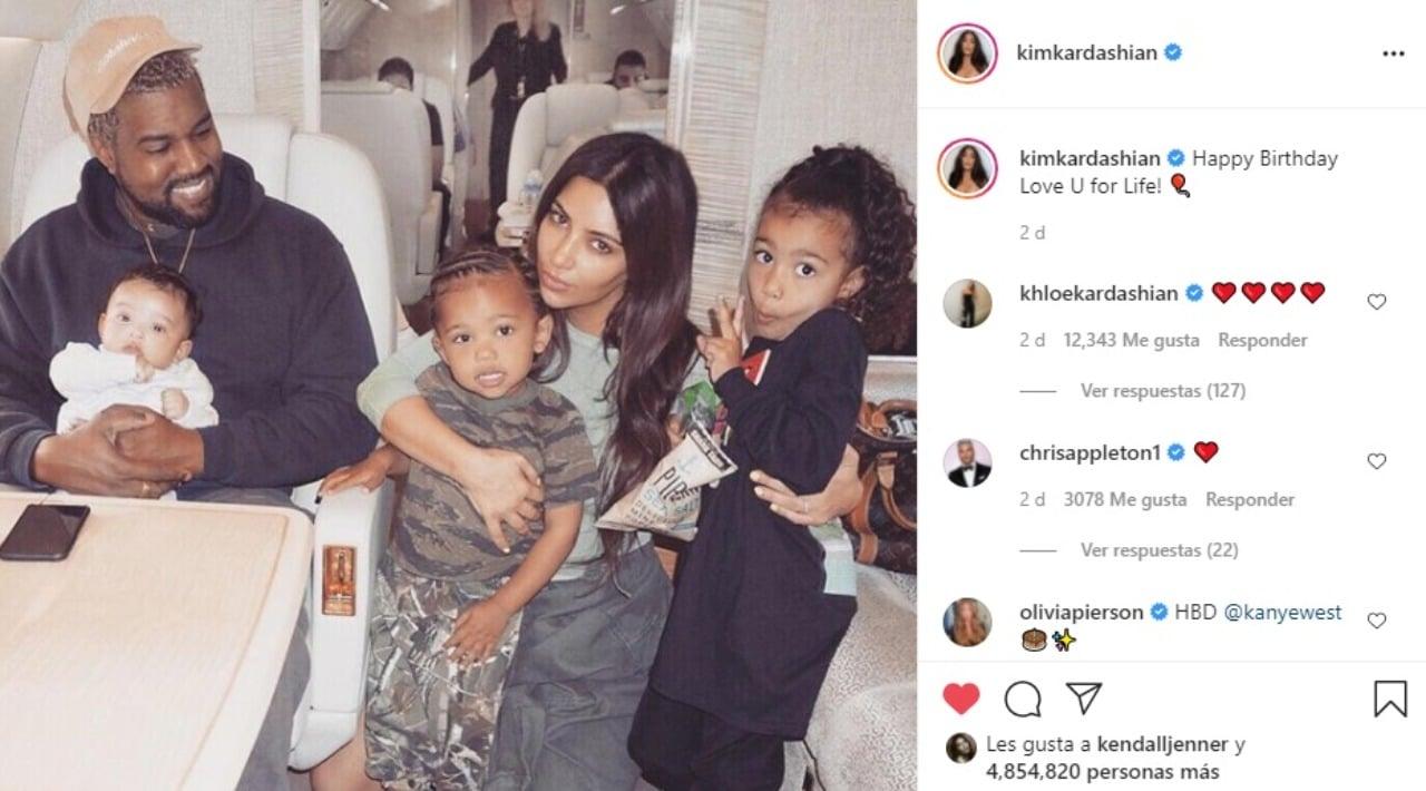 Kim Kardashian felicita Kanye West cumpleanos