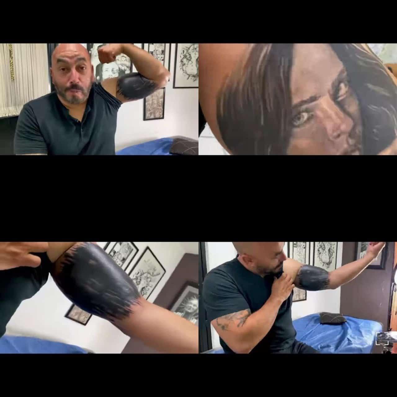 Lupillo Rivera se raya el tatuaje de Belinda