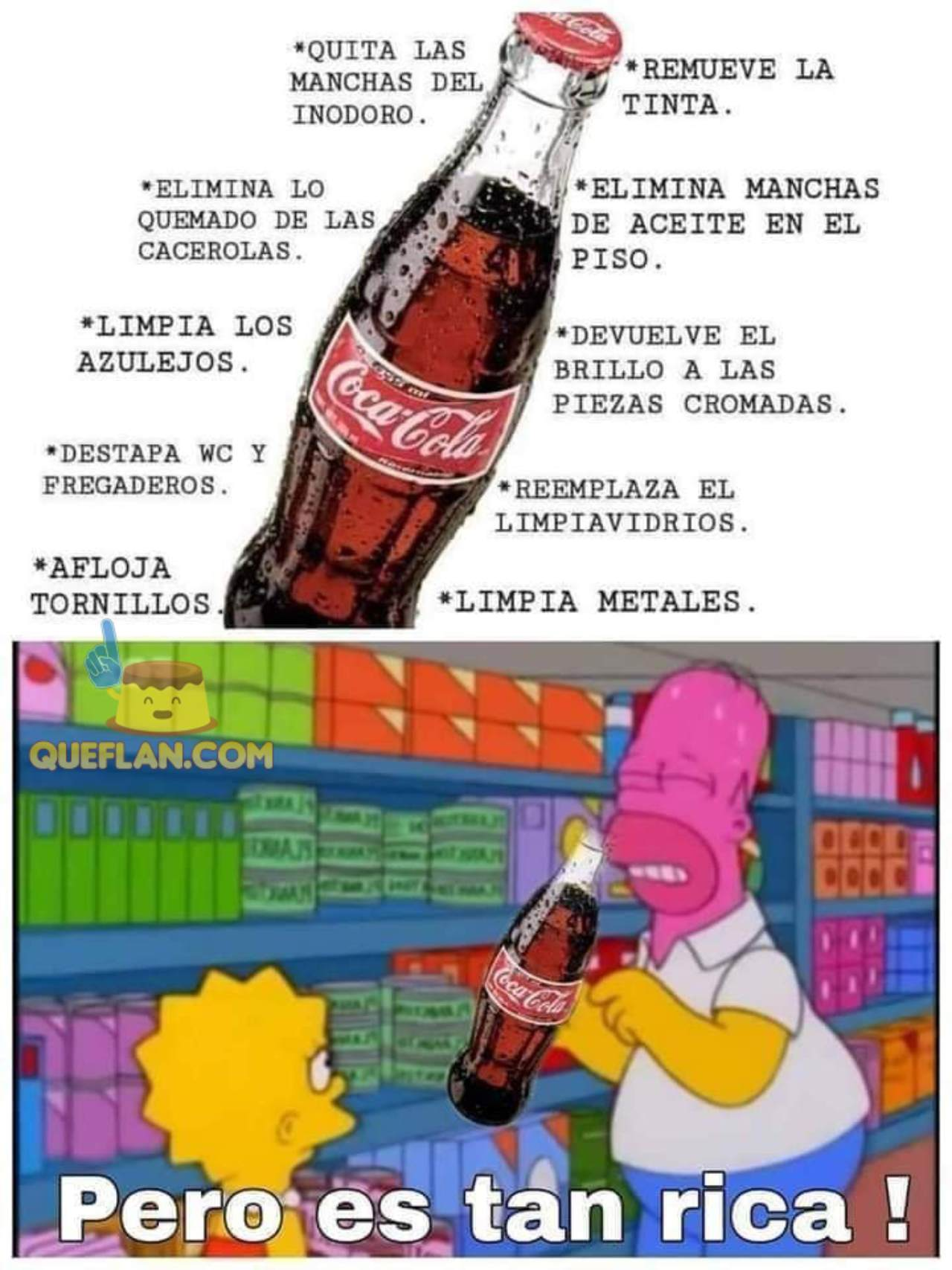 usos Coca cola utensilios meme