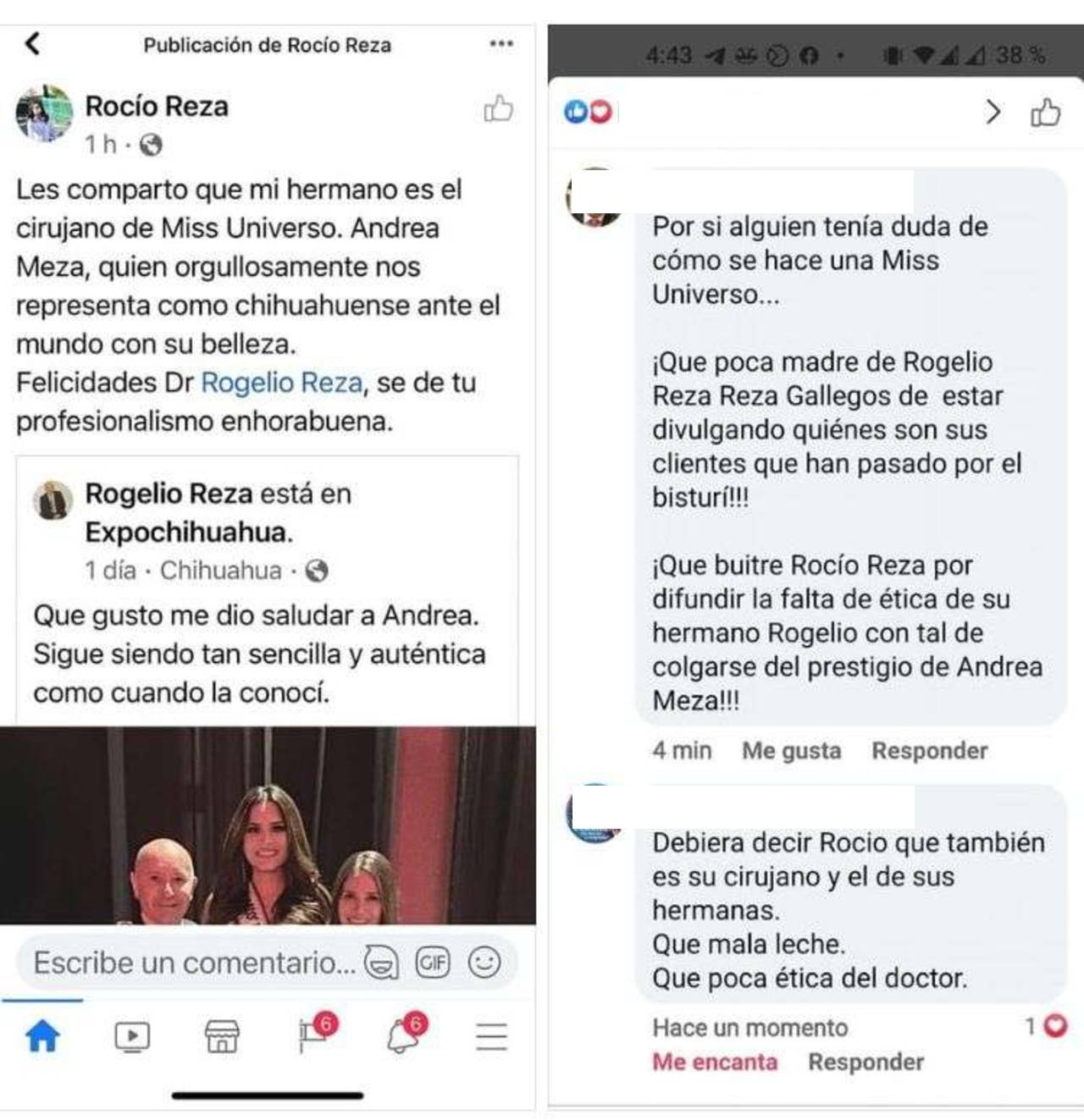 Diputada revela que su hermano es cirujano plástico de Andrea Meza