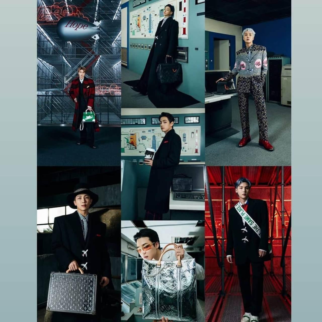 BTS como modelos del desfile Louis Vuitton