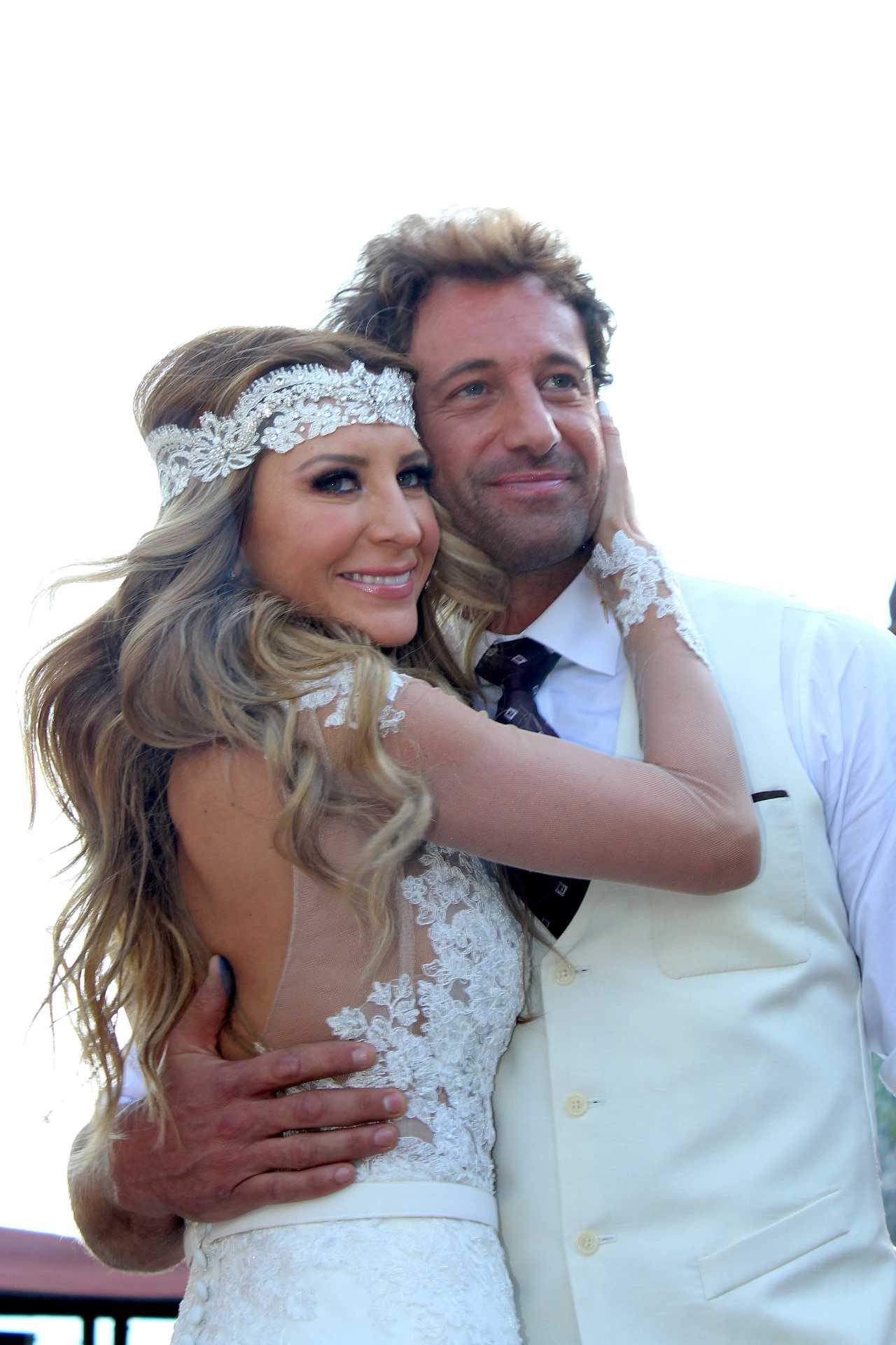 Gabriel Soto y Geraldine Bazán en su boda en febrero de 2016