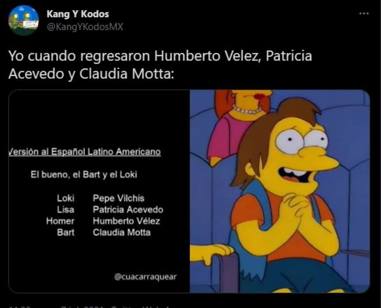 Humberto Vélez regresa a Los Simpson con su doblaje original