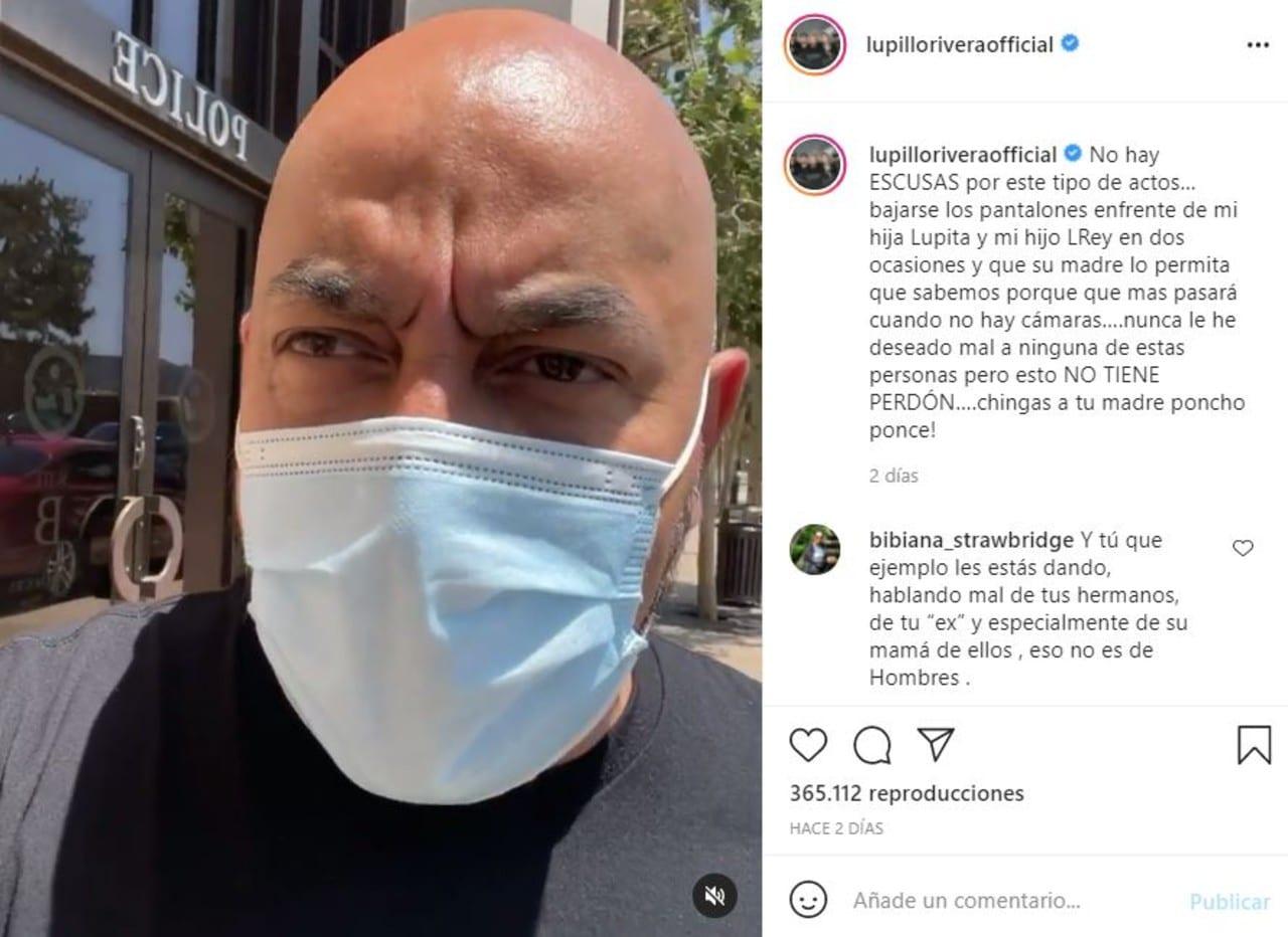 Lupillo Rivera explota contra su ex por hombre bajándose el pantalón frente a sus hijos