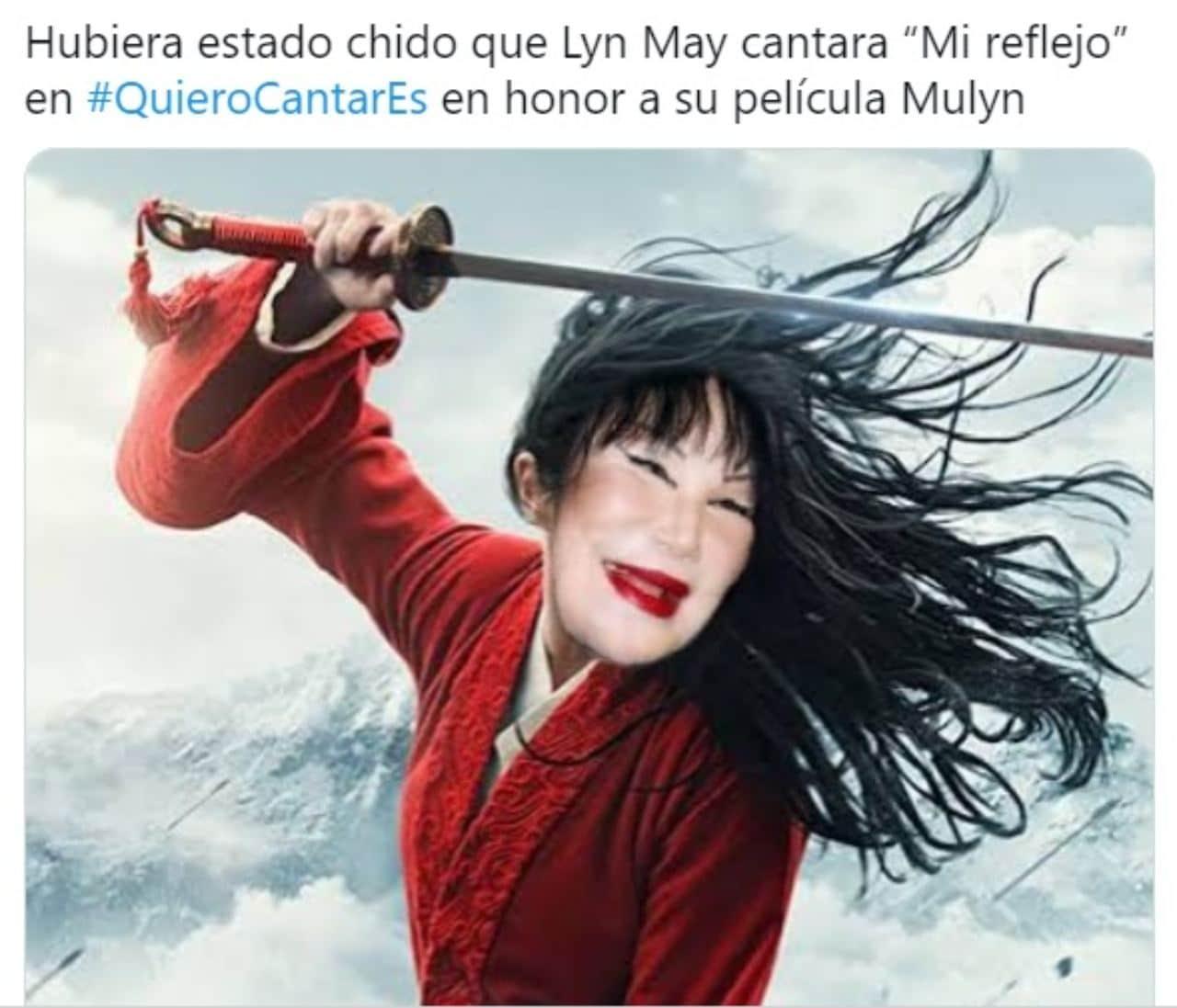 Meme de lyn may siendo mulan