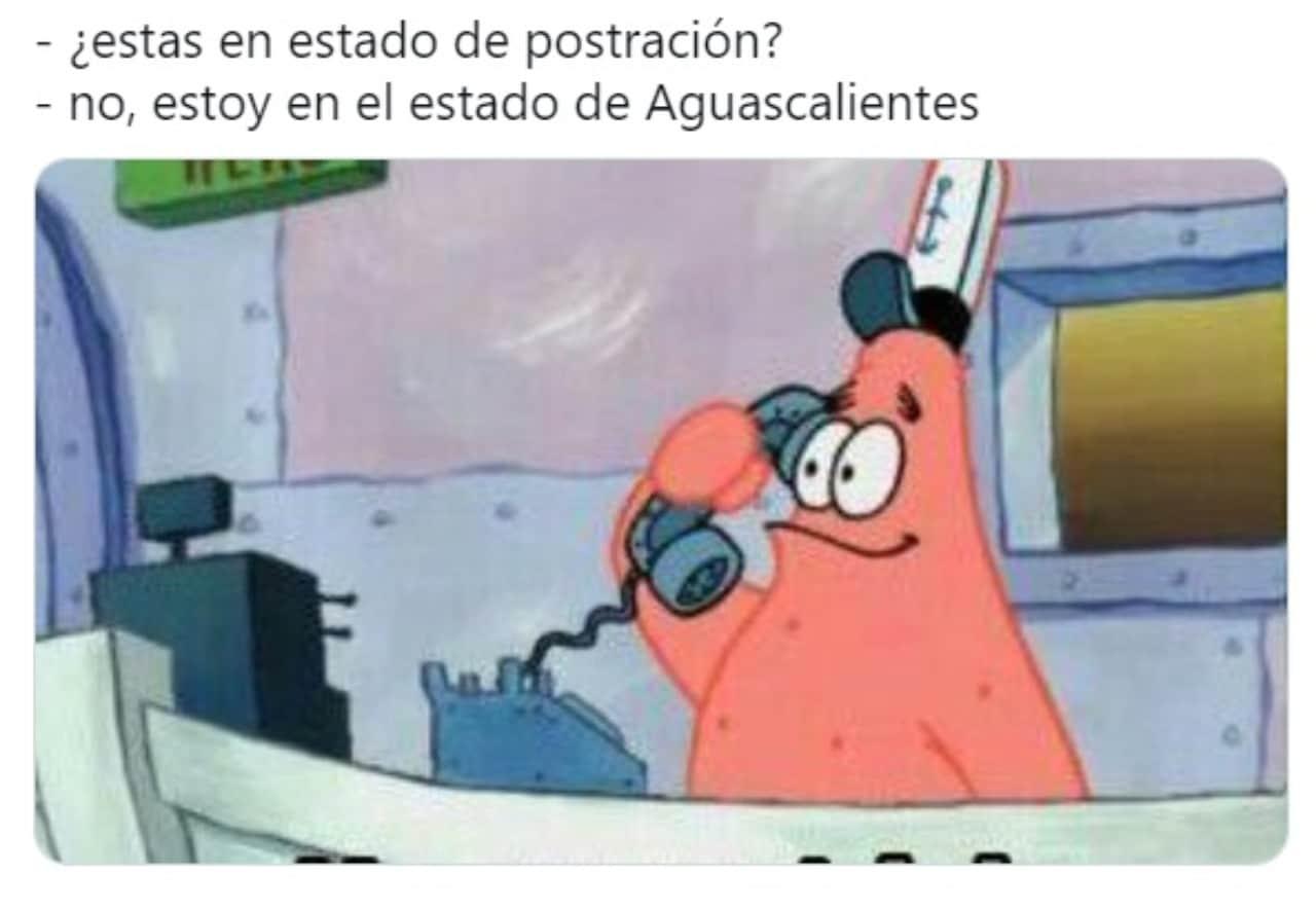 meme estado de postracion Patricio Estrella