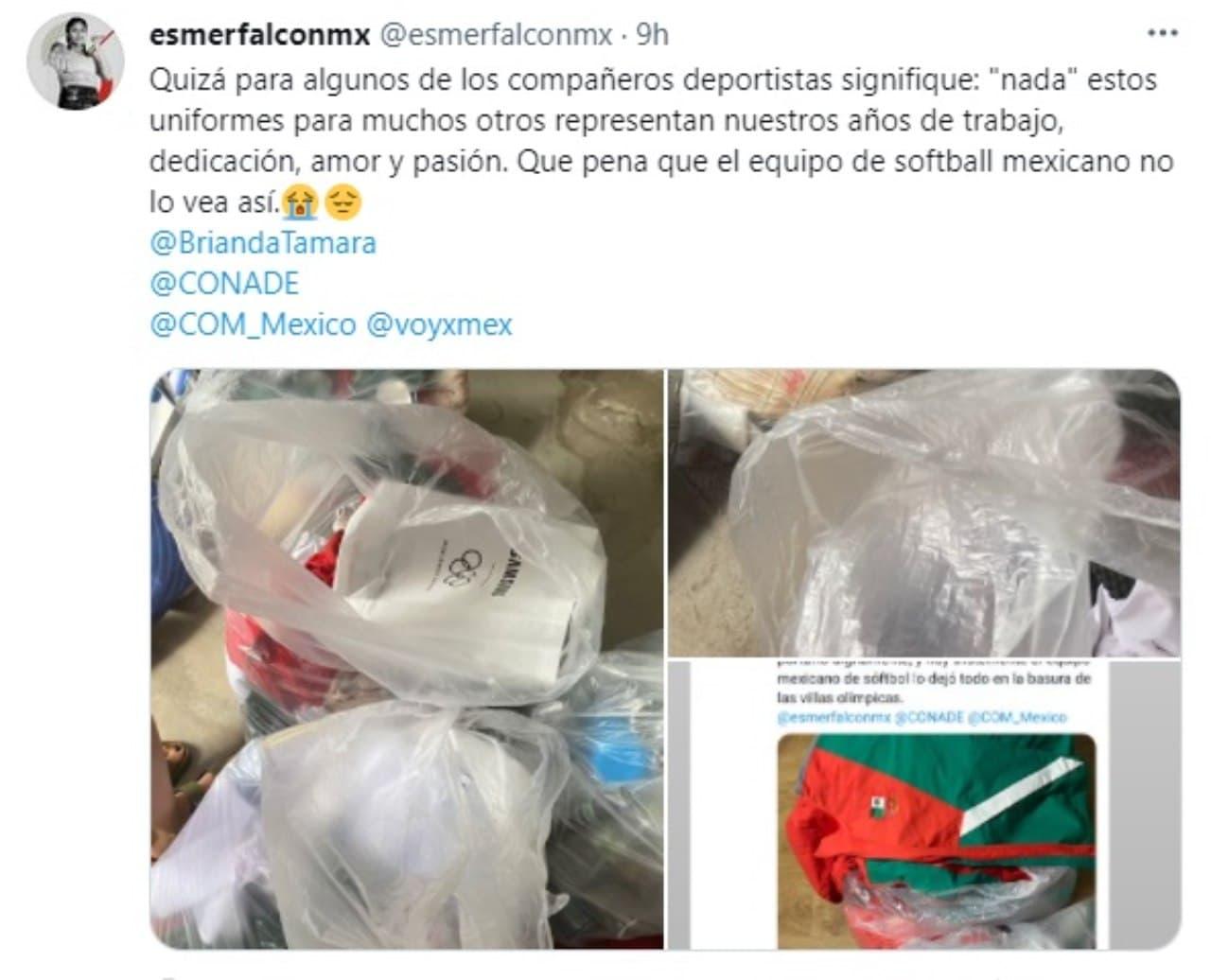 Mexicanas tiran uniformes basura Tokyo 2020