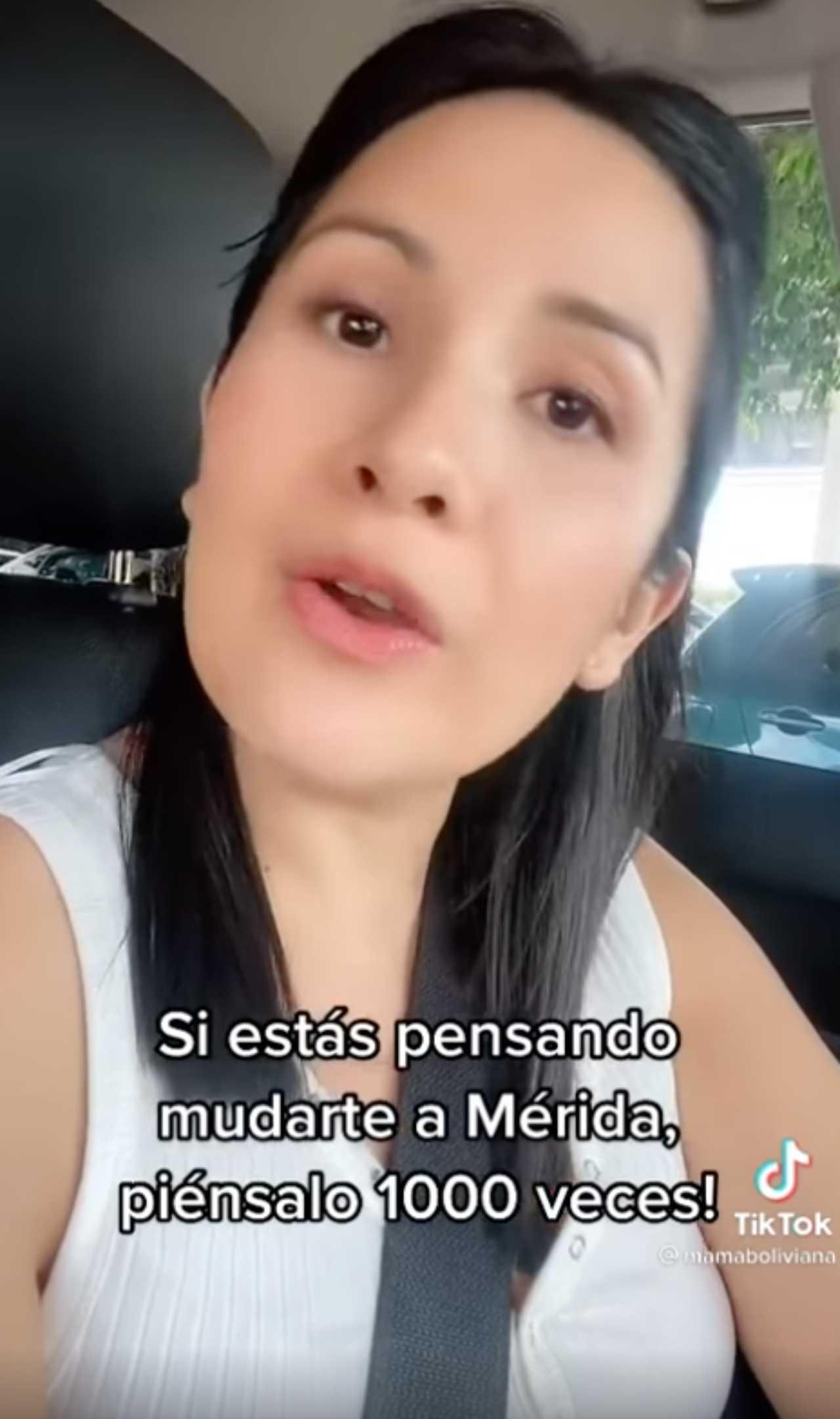 Mujer boliviana pide a sus seguidores no vivir en Mérida