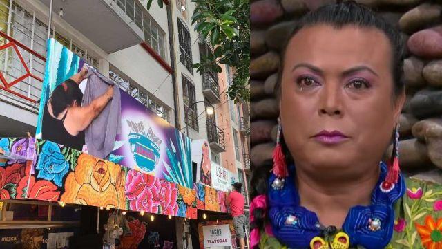 Tapan con meme a Lady Tacos de Canasta en restaurante donde vendía