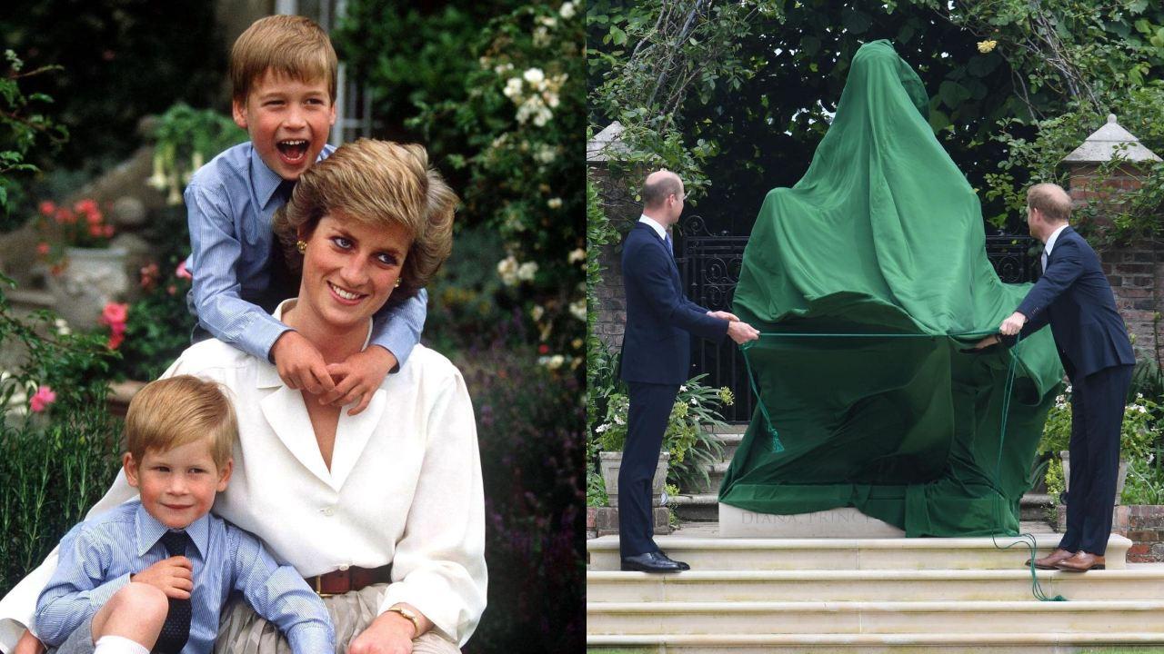 William Harry develacion estatua Lady Di