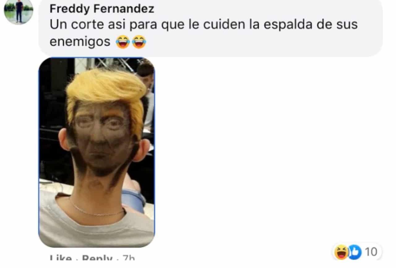 Meme peluquero AMLO y Trump