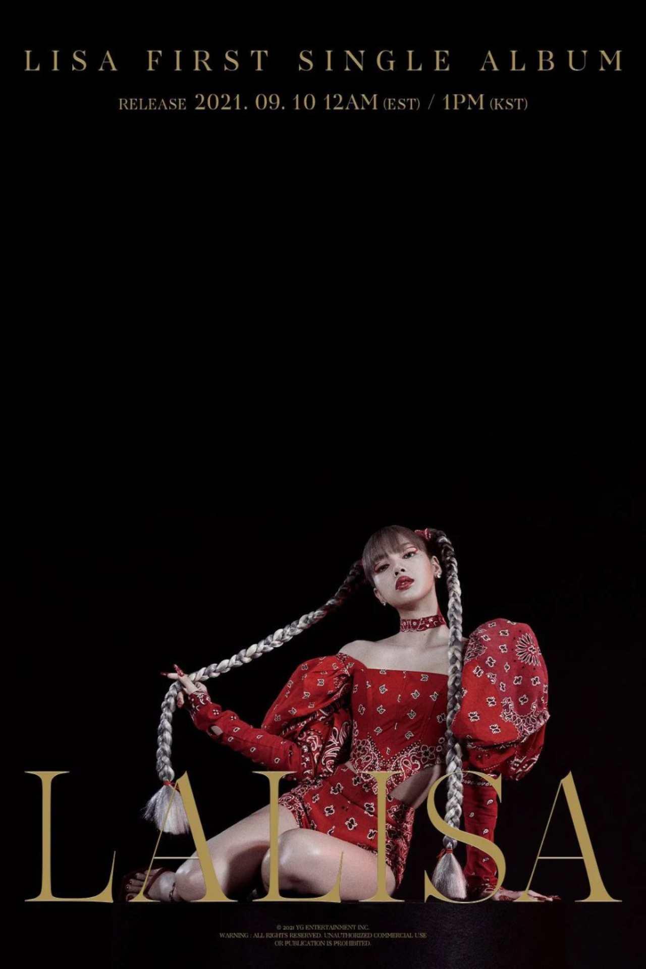 Lisa BLACKPINK poster oficial LALISA