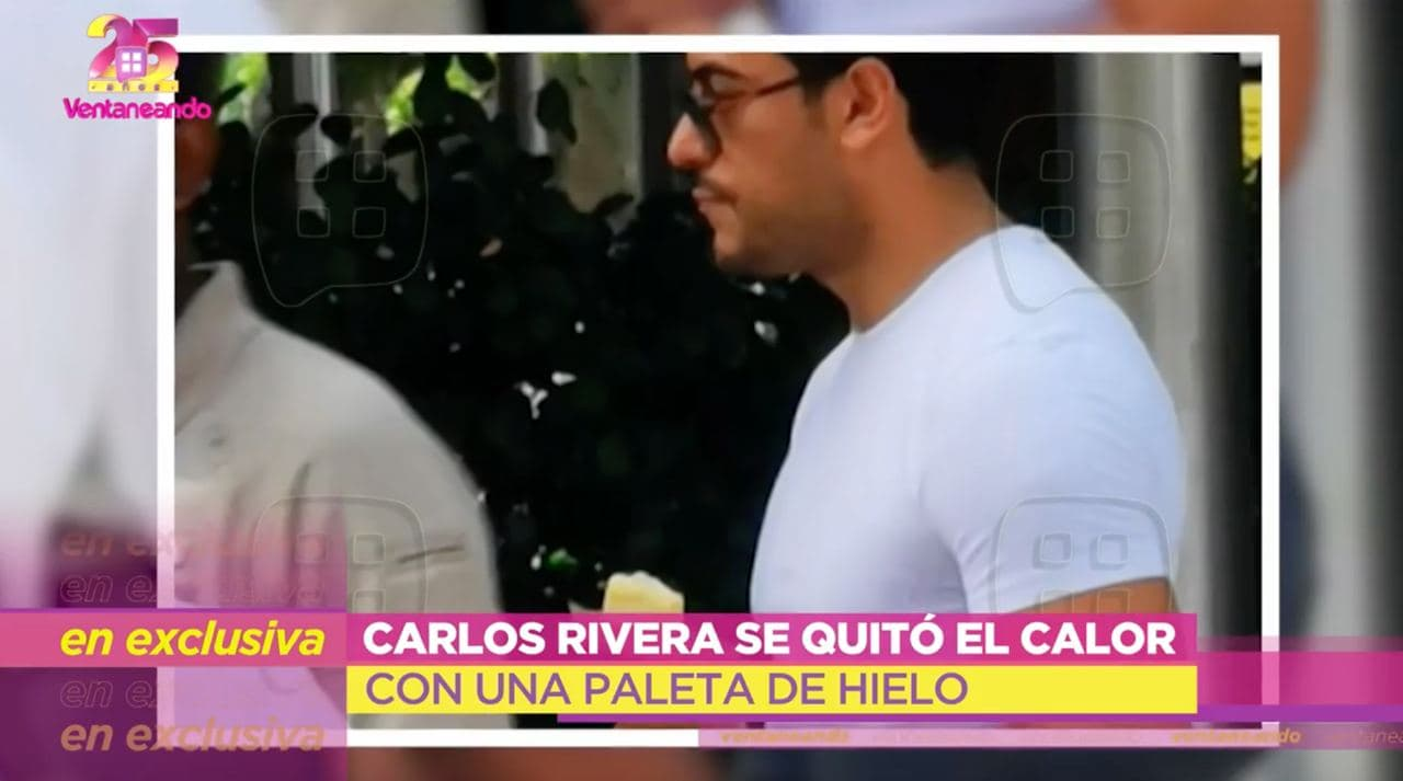 Carlos Rivera comio una paleta de hielo