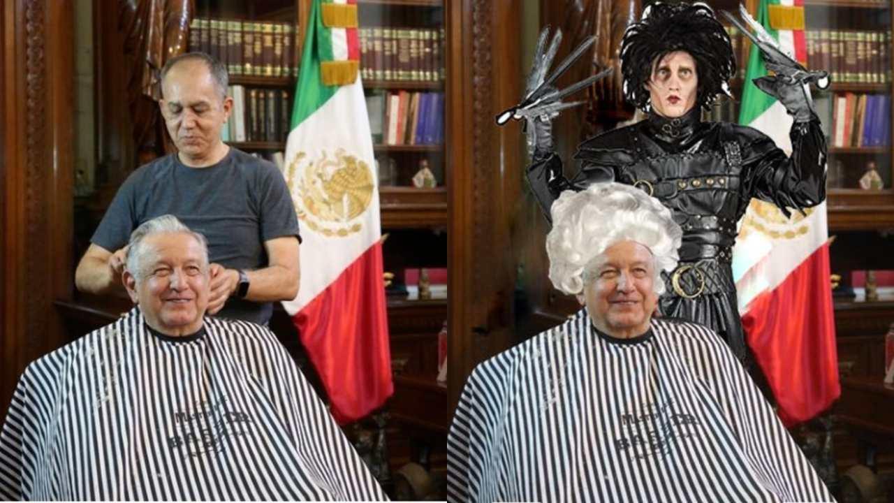 Los mejores memes de AMLO con su peluquero