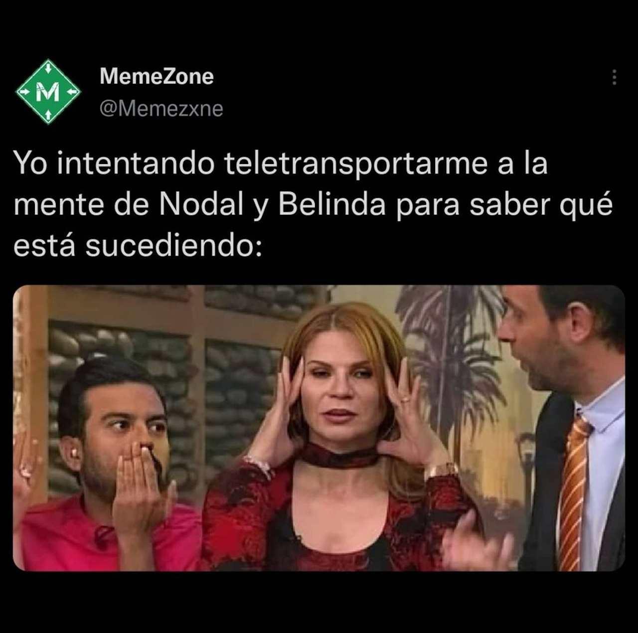 Meme de Belinda y Nodal terminaron Mhoni Vidente