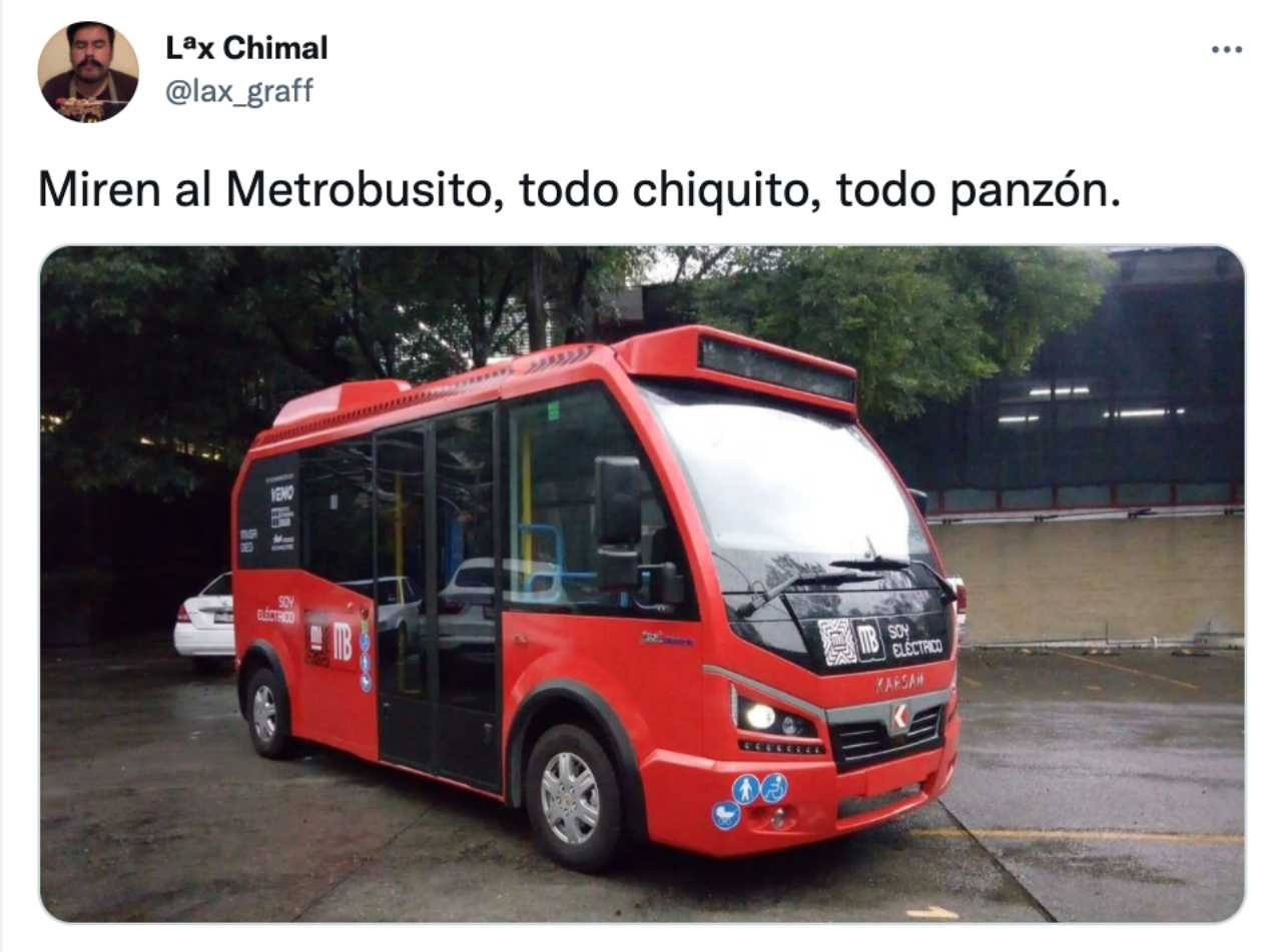 El Metrobusito bebé todo chiquito todo panzón