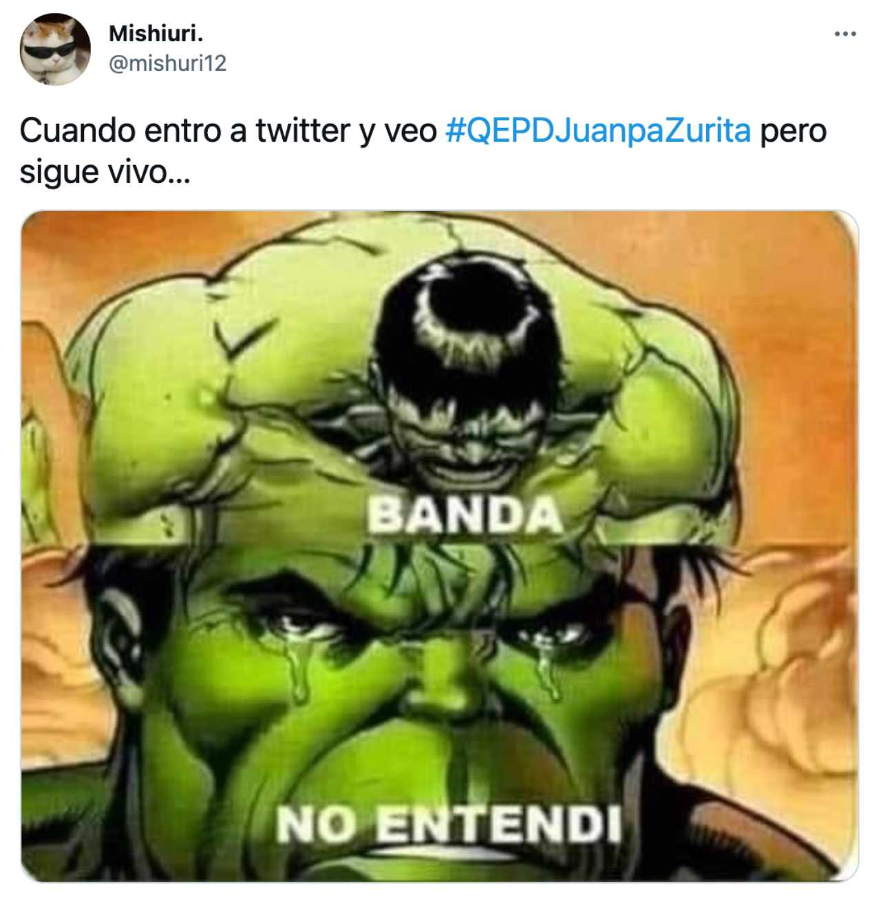 Meme de la muerte de Juanpa Zurita banda no entendí