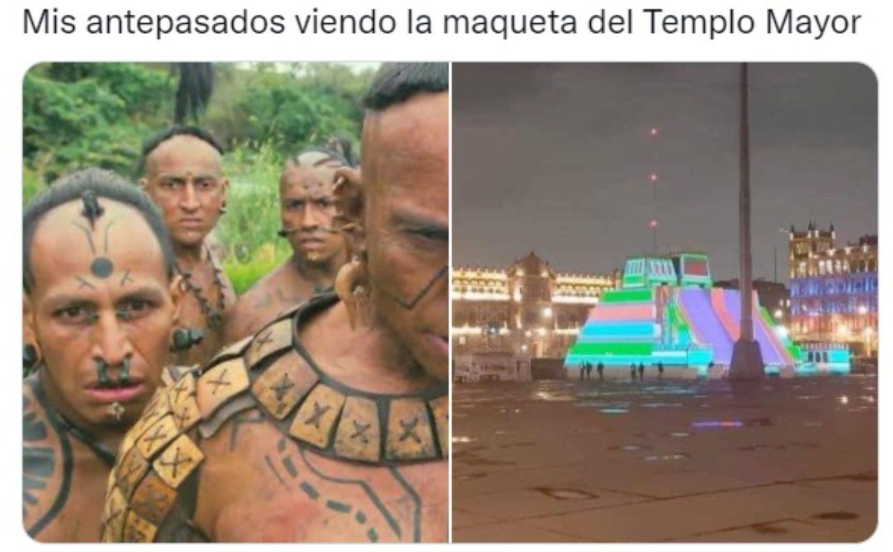 antepasados viendo templo mayor maqueta zocalo