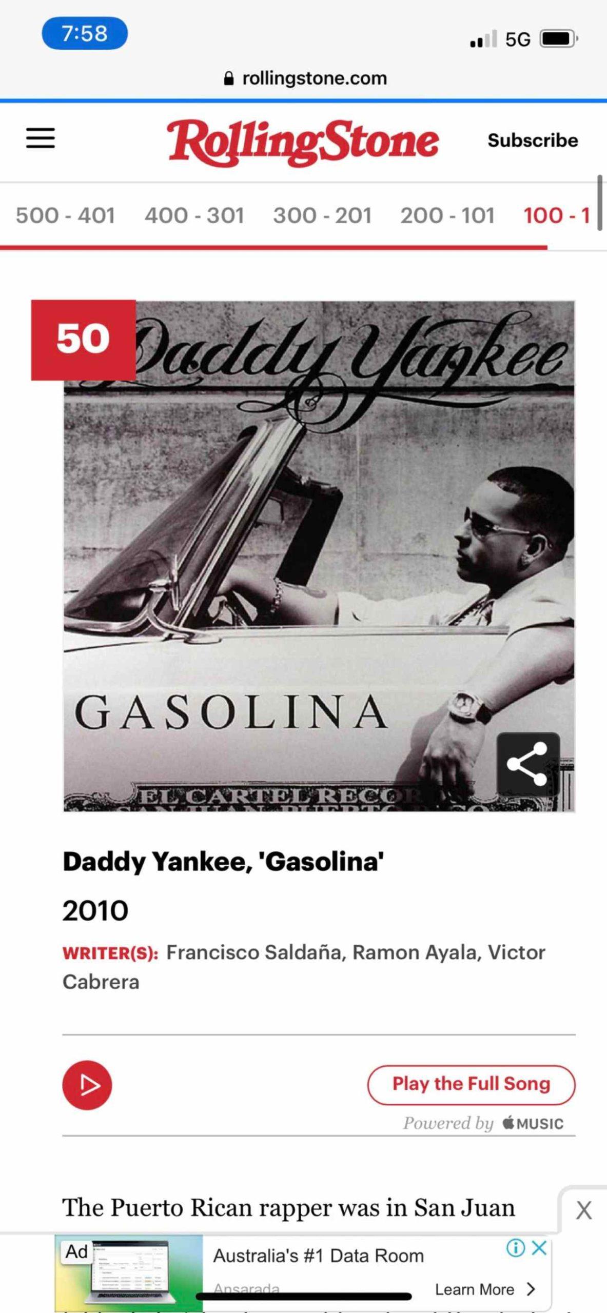 Gasolina Safaera 500 mejores