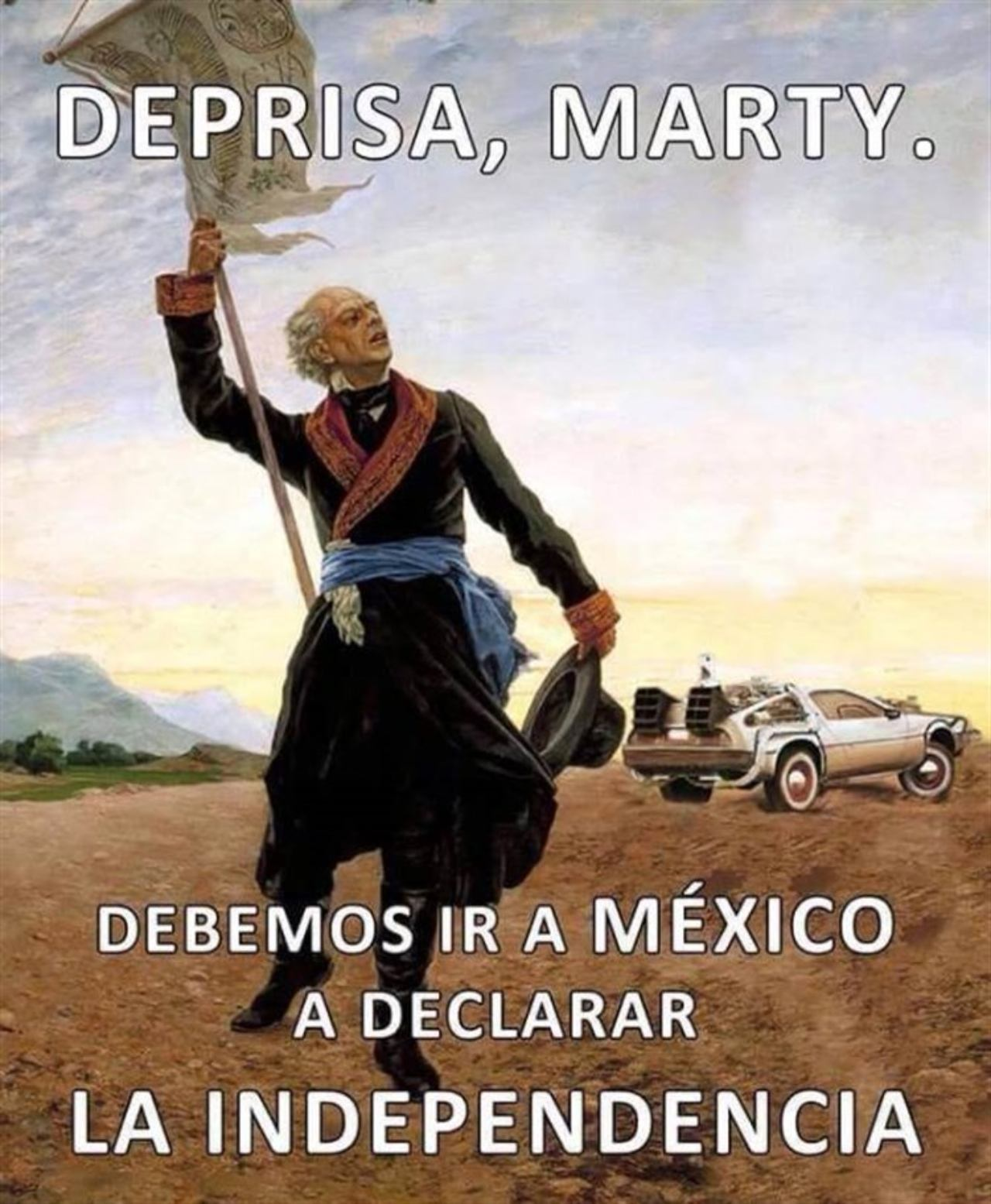 marty mcfly doctor meme grito independencia