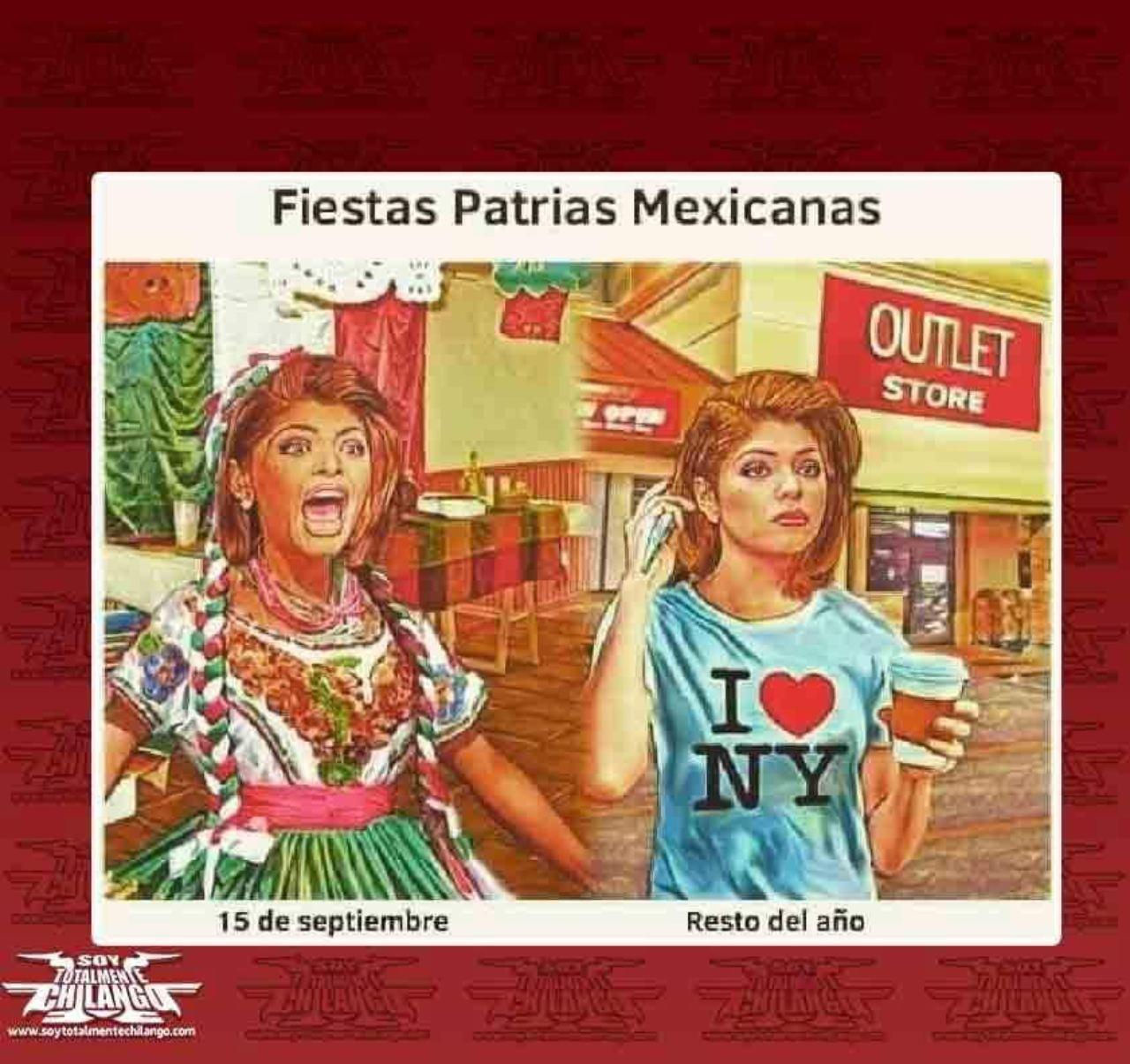 meme fiestas patrias mexicanas todo ano