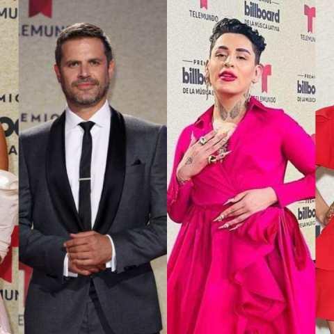 Alfombra roja premios Billboard Latinos 2021
