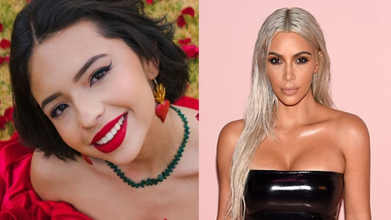 Angela Aguilar transformada Kim Kardashian look