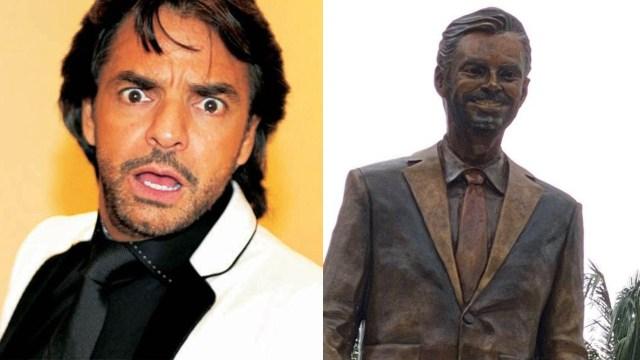 quitan estatua Eugenio Derbez en Acapulco