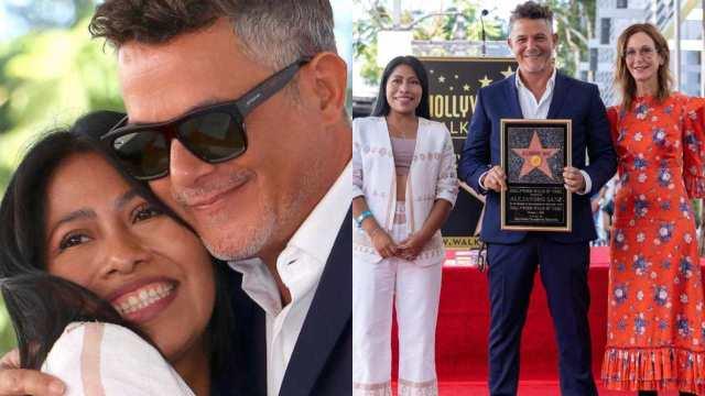 Yalitza Aparicio llega al Paseo de la Fama en Hollywood junto a Alejandro Sanz