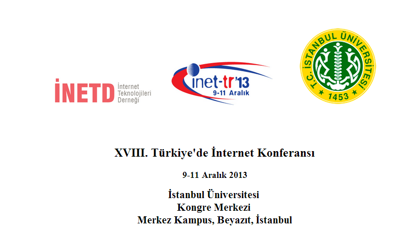 inet tr 13 Türkiye de İnternet Konferansi