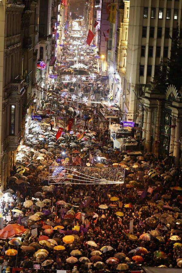 8 March 2014 Women's Day Parade in İstiklal Street