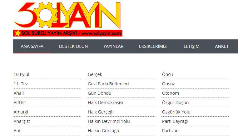 SolYayin.com Sosyalist Komünist Feminist Süreli Yayın Arşivi