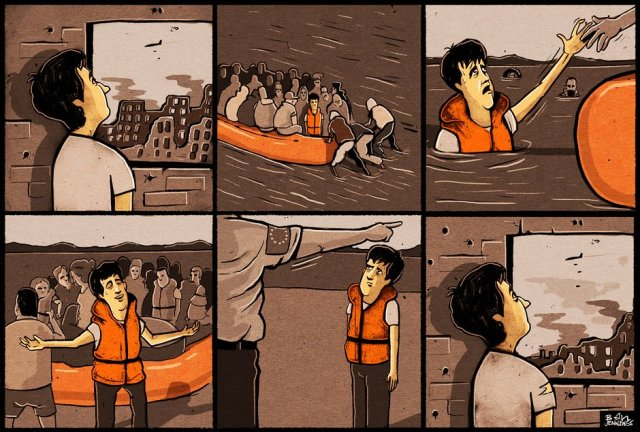 Ben Jennings on the EU-Turkey migration deal – cartoon