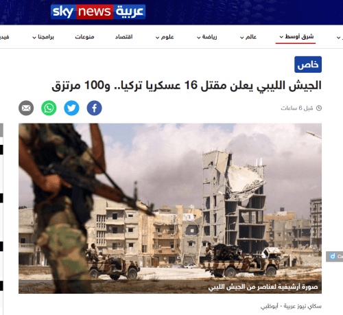 Turkish soldiers in Libya