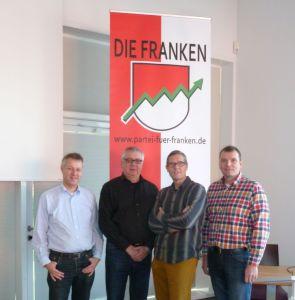 Die Delegierten des KV ER/ERH. Sebastian Eidloth, Klaus Sommerkorn, Harald Hirsch, Christian Grupe (v.l.n.r.)