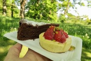 Kuchen im Park