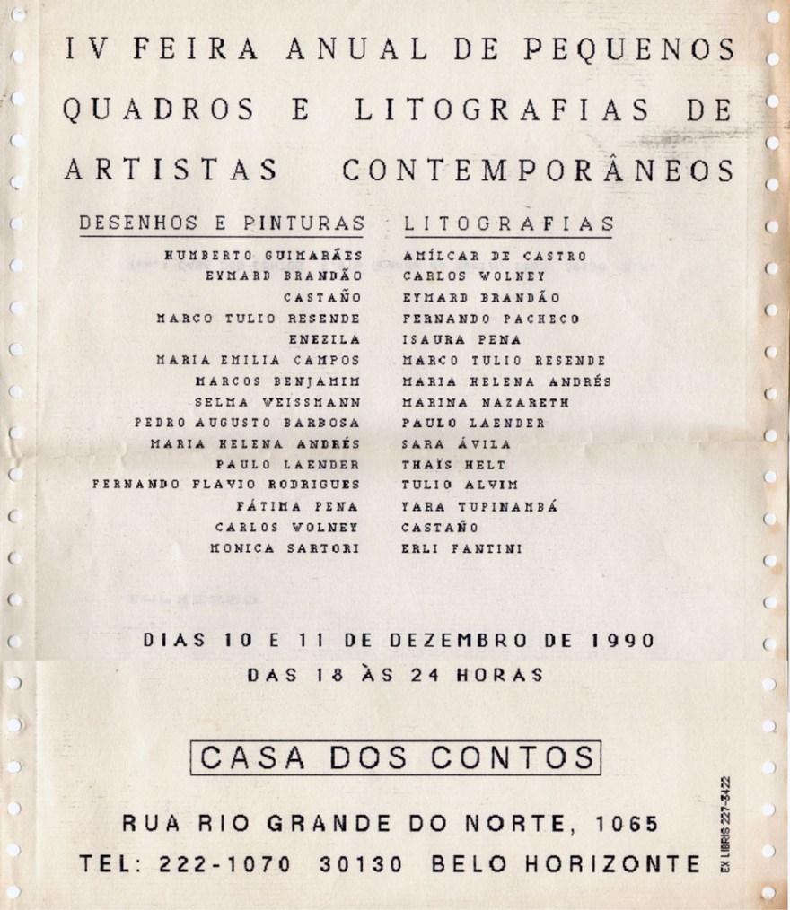 IV Feira anual de pequenos quadros e litografias de artistas contemporâneos