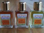 aftelier miniature natural perfume shiso, cepes & tuberose and fig