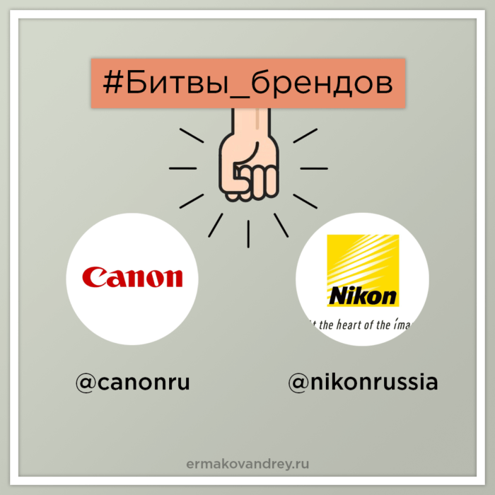 #Битвы_брендов Instagram Canon VS Nikon