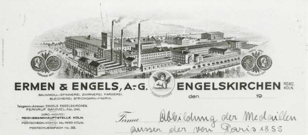 Briefkopf aus den 1920er Jahren mit den Medaillen großer nationaler und internationaler Ausstellungen