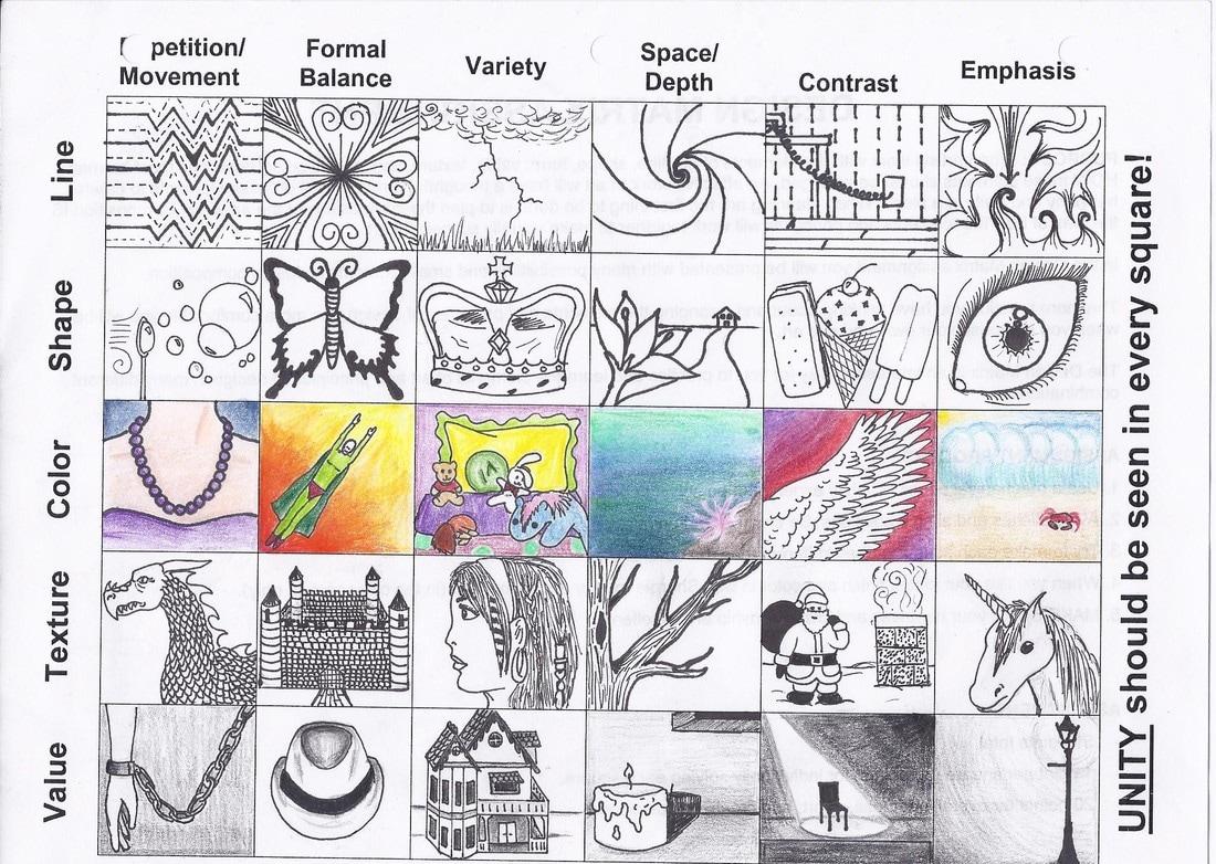 Drawing Elements And Principles Of Design Matrix