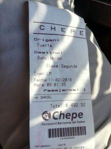 Chepe: un biglietto Clase Economica