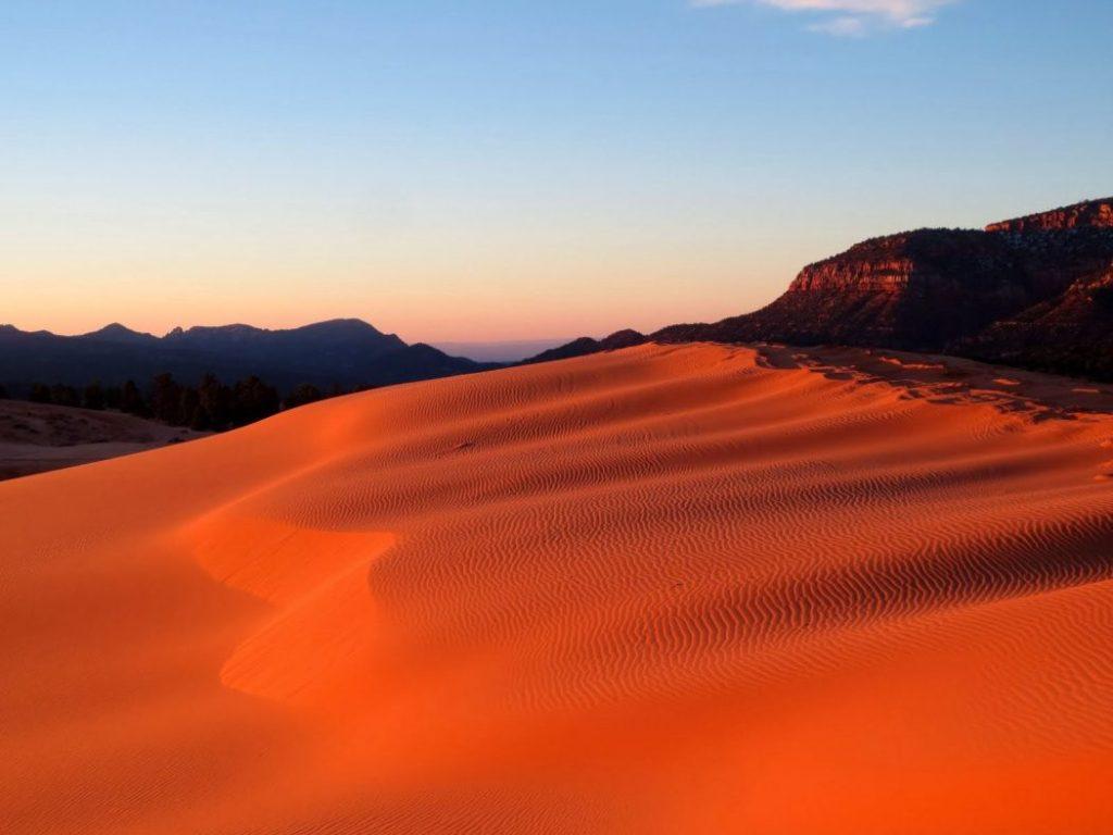 Tramonti memorabili al Coral Pink Sand Dunes (Utah)