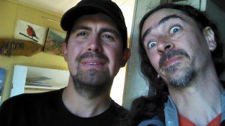 Con Carlos, guardiano del camping