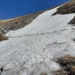 Verso la meta: passaggio su neve