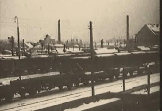 Olsztyn, Allenstein Bahnhof am 22.1.1945, Foto: sowjetische Wochenschau