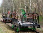 Draisinen auf der Haffuferbahn bei Tolkmicko, Foto; © www.lanzania.pl