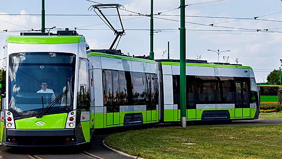 Die neue Straßenbahn mit Tramino-Zügen von Solaris in Allenstein (Olsztyn), Foto: Mat. Prasowe, © Urzad Miasta, Olsztyn