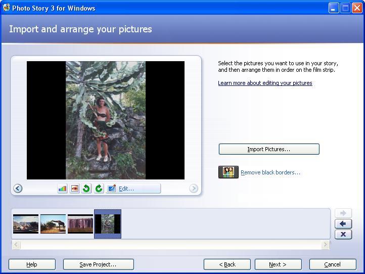 Import Pics, Remove black borders